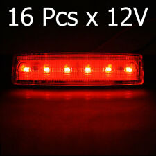 16x 12V Side Rear Marker Indicator Red Lights 6 LED Fits Jumper Ducato Transit