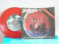 """New Edition,MCA,""""It's Christmas All Over The World"""",US,7""""45 w P/S,RED VINYL,MINT"""
