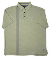 Nat Nast Mens XL American Fit 3-Button Polo Casual Shirt Green Blue Striped