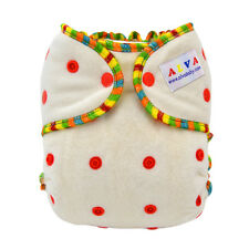ALVA Baby Bamboo Fitted diaper Washable sewn-in 3layer bamboo insert For Night