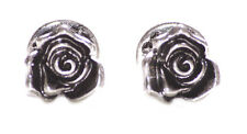Enchanting garden- rustic chrome rose /easy lock in metal cuff lings(ZX240)