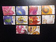 GB 1997 Commemorative Stamps~Greetings~Flower Paintings~Good Used Set~UK Seller
