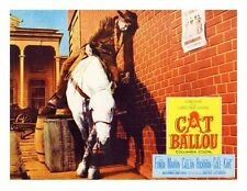 CAT BALLOU great lobby to 8x10 still LEE MARVIN drunk on horse -- (lc026)