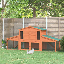 Wooden Rabbit Hutch Small Animal Pet Cage Portable Large Outdoor