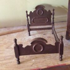 """Vintage Wooden """"Doll"""" Bed Measures 23 In Long X 14 In Wide X 14 In High"""