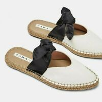 ZARA WOMAN NWT NATURAL MULES WITH BOW DETAIL REF. 3864/001
