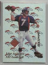 1998 Collector's Edge Football John Elway Authentic Game Ball Card # JE