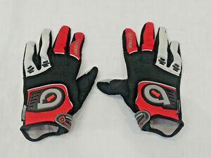 SixSixOne Comp Gloves Small 8 Red Black Grey Motorcross MX Qaud BMX Cycling