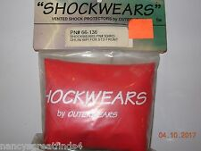 * Shockwears Vented Shock Protection Covers Ohlin/WP/Fox STD Front/Red