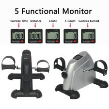Portable Mini Exercise Bike Cycle Hand Foot Pedal LCD Display Office Home Gym