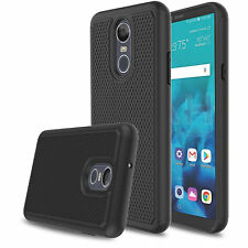 LG Q Stylo Plus - Hybrid Dual Layer Impact Shock Proof silicone Hard Case Cover