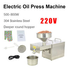 NEW 220V Stainless Steel Automatic Peanuts Rapesee Oil Press Extraction Machine