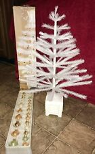 Martha Stewart White Feather Christmas Tree with 24 Glass Ornaments in Box