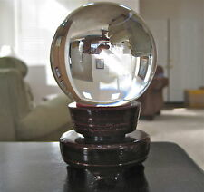 Crystal Gazing Ball sphere Clear with Stand, weighing 1 lb. 10 oz.