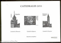 Prueba impresion calcografica 2011 Catedrales sin dentar @ F.N.M.T.@