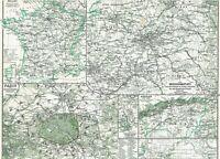 Alte Landkarte Frankreich 🇫🇷🥖🍇🍷Paris Algerien Kriegsschauplatz MARNE 1876