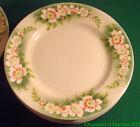 Assiette plate en faience de Lunéville K&G décor floral Keller et Guérin