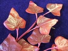 Vintage Millinery Flower PearlLot Leaf Burgandy Red Trim for Hat Y84