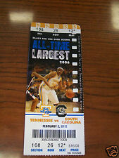 2012 South Carolina Womens Basketball @ Tennessee Ticket Stub 1st Win There!