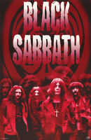POSTER :MUSIC : BLACK SABBATH - GROUP POSE - RED - FREE SHIPPING ! #9009 LC19 P