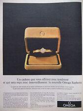 PUBLICITÉ PRESSE 1962 MONTRE OMEGA SAPHETTE - ADVERTISING