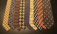 Lot of 9 NEW Claiborne Designer Neck Ties with Patterns LD004