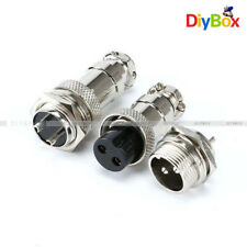 Aviation Plug 2-Pin 16mm GX16-2 Male and Female Panel Metal Connector