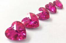 5 18mm Metallic Fuchsia Pink Heart Chandelier Crystals Prism Suncatcher