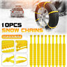 10pcs Snow Tire Chains Wheel Straps Belt Anti-skid For Car Truck SUV Emergency
