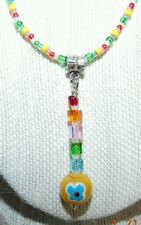 """multi-colors charm mix beaded necklace 18"""" with bracelet set handmade"""