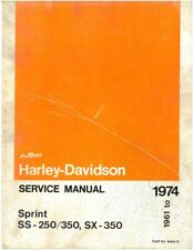 Sprint Harley-Davidson Motorcycle Repair Manuals & Literature for