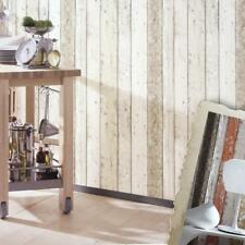 Cream Wood Panel Wallpaper New England Rustic Wooden Planks 8951-10