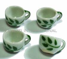 4-Piece Dollhouse Miniature Ceramic Cups Set * Doll Mini Tea Coffee Cup Kitchen