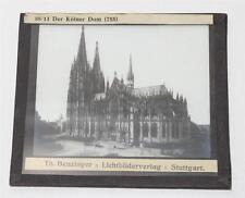 Köln, Kölner Dom, antikes Lichtbild Glasplatte ca. 1920 #E898