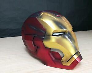 Full metal 1:1 Replica Iron Man MK42 LED eye Helmet Remote War damage edition