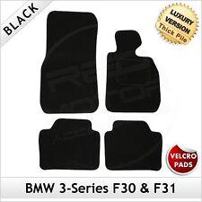 BMW SERIE 3 F30 F31 2012 in poi VELCRO SU MISURA tappetini LUX 1300g Nero