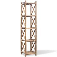 5-Etagen Bambus Badregal Handtuchregal Duschregal Standregal Bücher Küchenregal