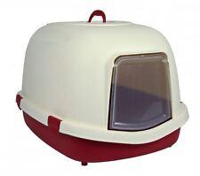 Trixie 40286 Katzentoilette Primo XL, mit Haube, 56 × 47 × 71 cm, bordeaux/creme