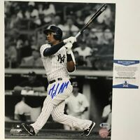 Autographed/Signed MIGUEL ANDUJAR New York Yankees 11x14 Photo Beckett BAS COA