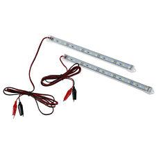 2pc 12V Car 15 LED 5630 SMD Interior Light Strip Lamp Bar Van Caravan Fish T3H4