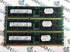 24GB (3x 8GB) DDR3 Samsung M393B1K70CH0-CH9 REG ECC - PC3-10600R-09-10-E1 1333 M
