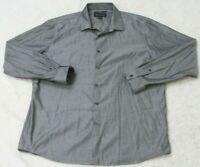 INC International Concepts Gray Dress Shirt Long Sleeve Button Up 17-17.5 XL Man