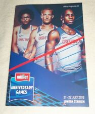 2018 Muller Anniversary Games Athletics Championships London Programme - New