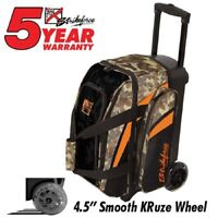 KR Strikeforce Cruiser Smooth Camo 2 Ball Roller Bowling Bag