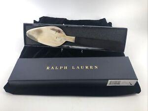 Ralph Lauren Luxury Hostess Gift Horn Cake Server Box Wood Handle