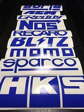 9 Car Sponsor Decal Pack DEEP BLUE Color! JDM Racing Stickers