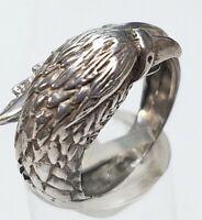 Vintage Silber Ring 60er Jahre Adler - 925 Silber punziert RG 55/17,5 mm A 819