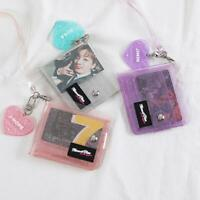 Transparent Women Purse PVC Short Purse Mini Money Wallet Card Holder Coin Bags