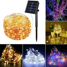 100/200 LED Solar String Light Copper Wire Waterproof Outdoor Fairy Lighting