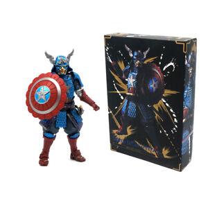 Samurai Captain America 7'' Action Figure Model Toy Movie Realization Marvel